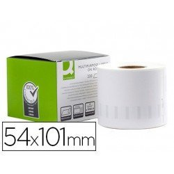 Etiqueta Adhesiva Q-Connect KF18539 Compatible Dymo 54x101 mm Caja de 220 uds