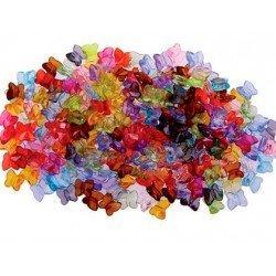 Cuentas de plástico Mini mariposa 9 mm Colores surtidos itKrea