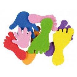 Figuras Pies y manos Autoadhesivas Colores Surtidos itKrea
