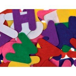 Letra de fieltro autoadhesivo Colores surtidos marca itKrea