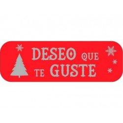 Etiqueta Deseo que te guste color Rojo Arguval