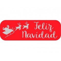 Etiqueta Feliz Navidad color Rojo Arguval