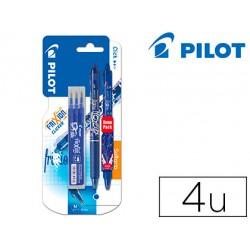 Boligrafo Borrable Pilot Frixion Clicker Azul + 3 recambios 0,4 mm + boligrafo edicion especial