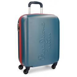 Maleta de Cabina 55x40x20 cm Rigida 4 ruedas Pepe Jeans Tricolor Azul