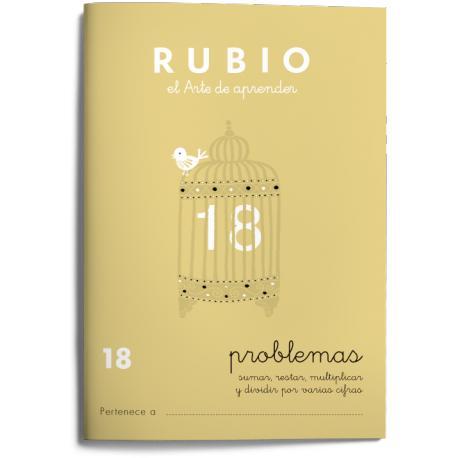 Cuaderno Rubio Problemas nº 18 Sumar, restar, multiplicar y dividir por varias cifras