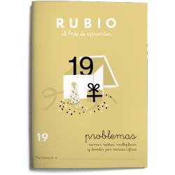 Cuaderno Rubio Problemas nº 19 Sumar, restar, multiplicar y dividir por varias cifras