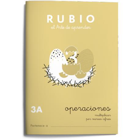 Cuaderno Rubio Operaciones nº 3 A Multiplicar por varias cifras