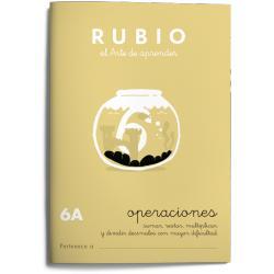Cuaderno Rubio Operaciones nº 6 A Sumar, restar, multiplicar y dividir con decimales mayor dificultad