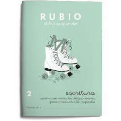 Cuaderno Rubio Escritura nº 2 Escritura con minúsculas, dibujos, números, grecas e iniciación a las mayúsculas