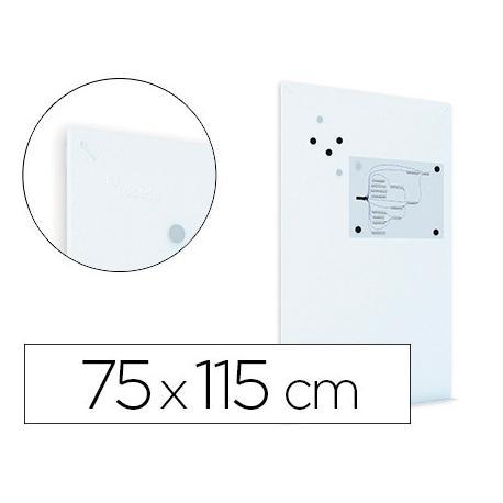 Pizarra Blanca Rocada Mural Magnética sin marco 75x115 cm