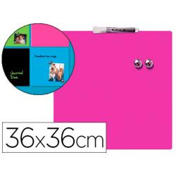 Pizarra Rosa Magnetica sin marco 36x36 cm Rexel