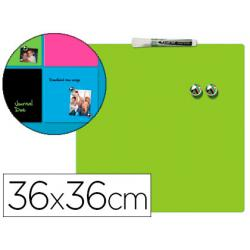 Pizarra Verde Magnetica sin marco 36x36 cm Rexel