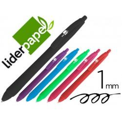BOLIGRAFO LIDERPAPEL GUMMY TOUCH RETRACTIL 1,0 MM TINTA VIOLETA