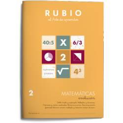 Cuaderno Rubio Matemáticas nº 2 Doble, Triple y Cuádruple. Múltiplos y Divisores