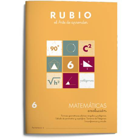Cuaderno Rubio Matemáticas nº 6 Formas geométricas planas: ángulos y polígonos