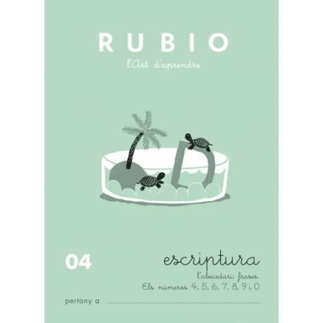 Cuaderno Rubio Escriptura nº 04 Abecedario, frases y números en Catalán