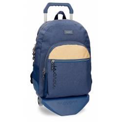 Mochila escolar Movom 44x33x13,5 cm Poliéster Babylon Azul con carro