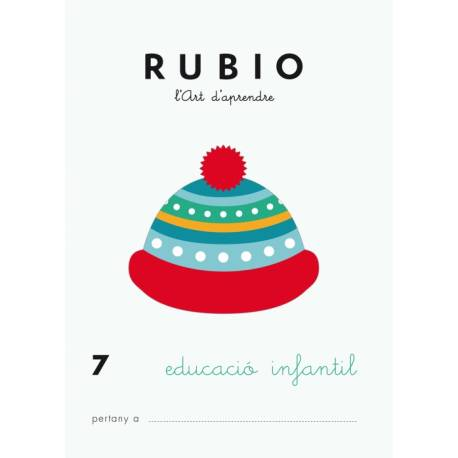 Cuaderno Rubio Educació Infantil nº 7 Desarrollo motriz en Catalán