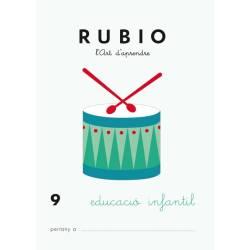 Cuaderno Rubio Educació Infantil nº 9 Desarrollo motriz en Catalán