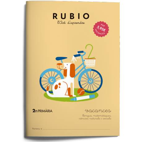 Cuaderno Rubio Vacances 2º Primaria en Catalán