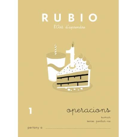 Cuaderno Rubio Operacions nº 1 Sumar sin llevar en Catalán