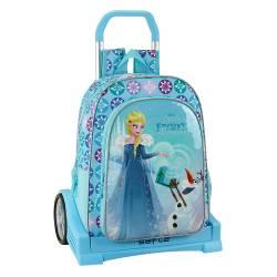 Mochila escolar Frozen 42x33x15 cm Poliéster Olaf S Adventure con ruedas