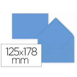 Sobre B6 Liderpapel 125x178mm 80g/m2 Color Azul Oscuro Pack de 15 unidades