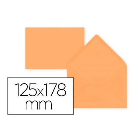 Sobre B6 Liderpapel 125x178mm 80g/m2 Naranja Pack de 15 unidades