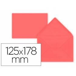 Sobre B6 Liderpapel 125x178mm 80g/m2 Rojo Pack de 15 unidades