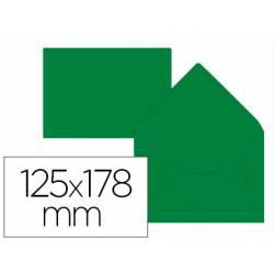 Sobre B6 Liderpapel 125x178mm 80g/m2 Verde Acebo Pack de 15 unidades