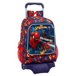 Mochila Escolar Spiderman 43x33x15 cm Slinging Time con Ruedas