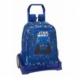 Mochila escolar Star Wars 43X33X15 cm Neon con Ruedas Evolution