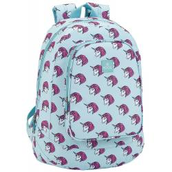 CARTERA ESCOLAR SAFTA MOOS UNICORN MOCHILA ADAPTABLE A CARRO 330X460X175 MM
