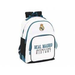 Mochila escolar Real Madrid 42x32x15 cm 1 Equipación 17/18 Adaptable a carro