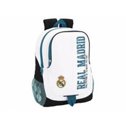 Mochila escolar Real Madrid 44x32x16 cm 1 Equipación 17/18 Adaptable a carro