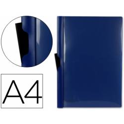 Carpeta dossier con pinza lateral Liderpapel 60 hojas Din A4 color azul