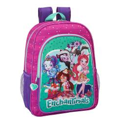 Mochila escolar Enchantimals 42x33x14 cm Poliéster adaptable a carro