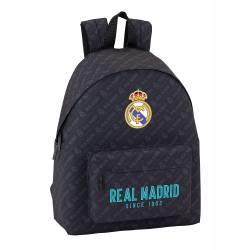 Mochila Escolar Real Madrid 42x33x15 cm Negro