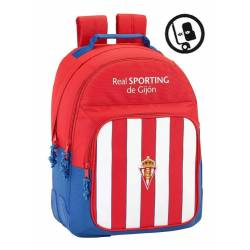 CARTERA ESCOLAR SAFTA REAL SPORTING DE GIJON MOCHILA 320X150X420 MM