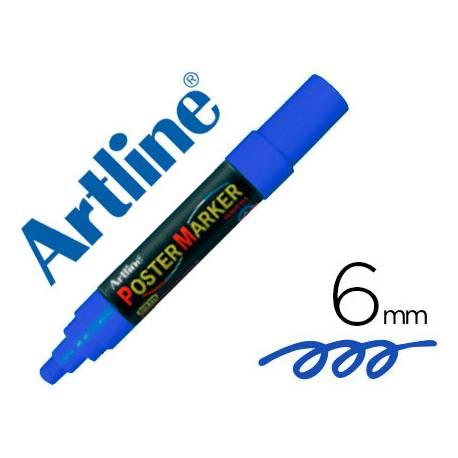 Rotulador Artline Poster Marker EPP-6 Punta Redonda Trazo 6mm Azul
