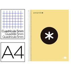 Bloc Antartik A4 Cuadricula 5mm tapa dura 100g/m2 amarillo piña 5 bandas color