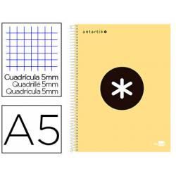 Bloc Antartik A5 Cuadricula 5mm tapa dura 100g/m2 amarillo piña 5 bandas color