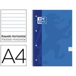 BLOC ESPIRAL OXFORD TAPA CARTONCILLO DIN A4 50 HOJAS RAYADO HORIZONTAL