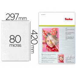 Bolsa de Plastificar Geha DIN A3 80 Micras con Brillo Pack de 25 unidades