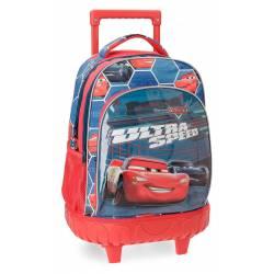 Mochila Infantil Cars Ultra Speed 43x32x21 cm de Microfibra con Ruedas