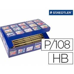 Lapices de grafito Staedtler Triplus Jumbo de HB Caja de 108 unidades