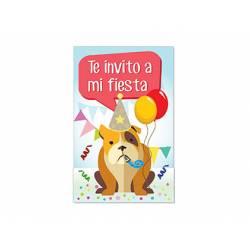 Invitacion para Fiesta Arguval Niños Blister de 8 unidades Perro