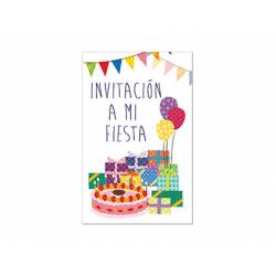 Invitacion para Fiesta Arguval Niños Blister de 8 unidades Tarta