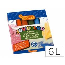Lapices cera Jovi Jovicolor caja de 6 unidades colores surtidos