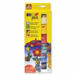 Arcilla Sio-2 Colorplus paquete de 6 colores surtidos 75 g